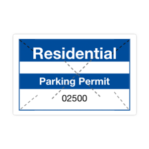 Parking Permit Rectangle Shape