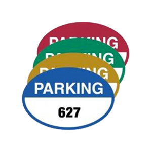 Parking Permit Design Oval Shape