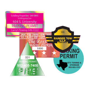 Custom Printed Parking Permits